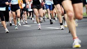 marathon course coureurs